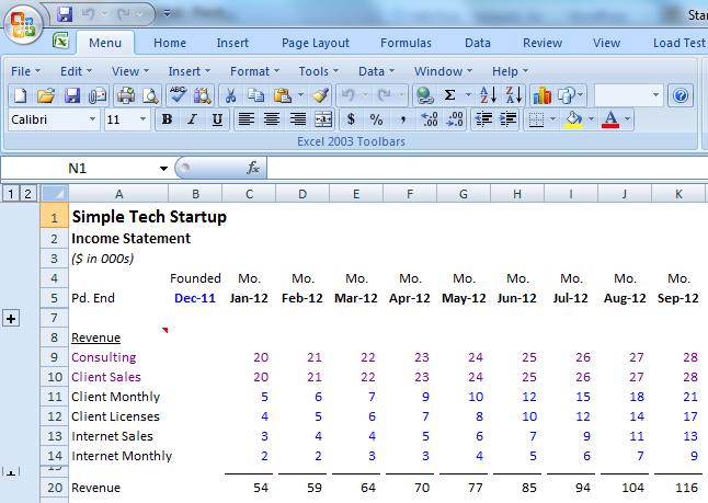 Startup Financial Model Template. cafe financial model tutorial ...