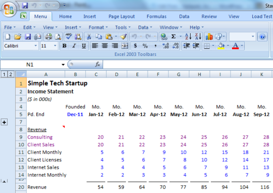 Simple financial model for a startup opspark inc for Financial modelling templates